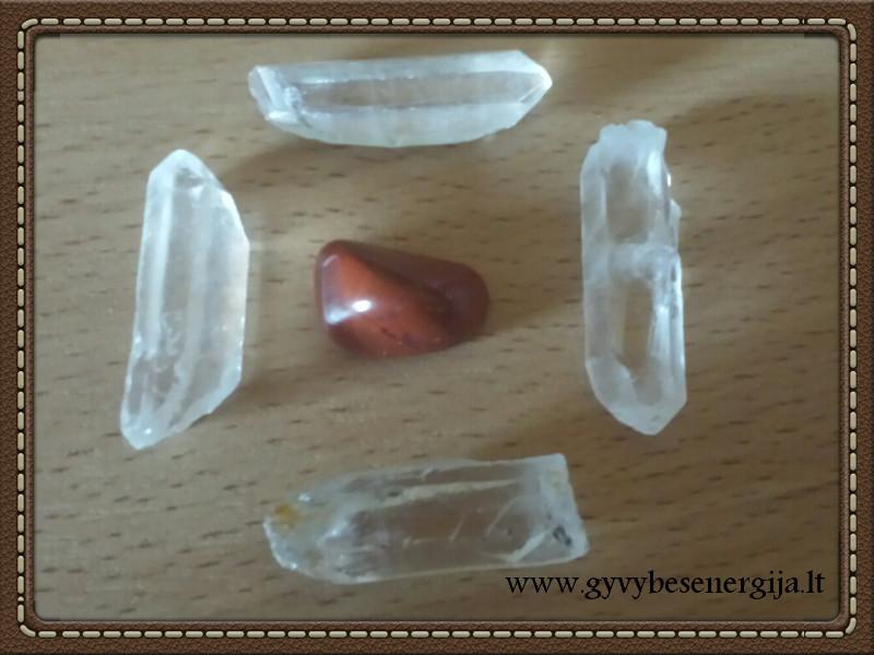 Pagrindo čakros stiprinimas kristalais