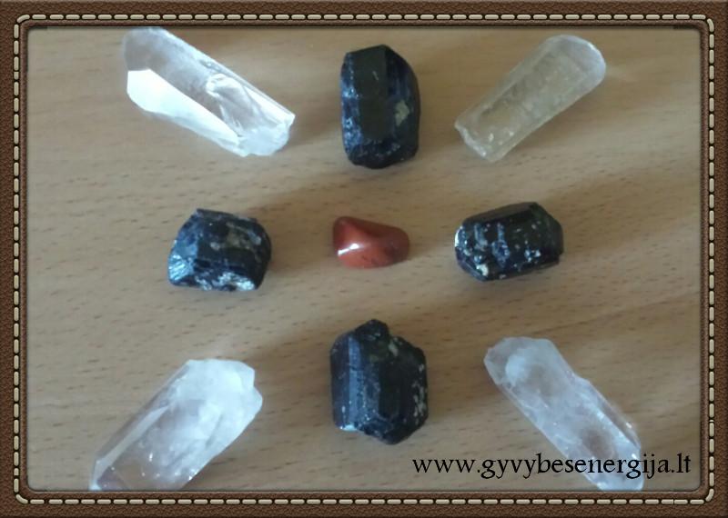 Pagrindo čakros valymas kristalais