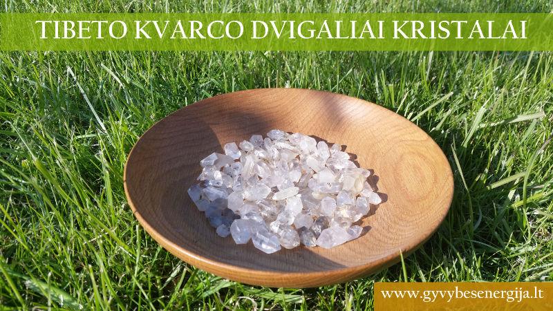 Tibeto kvarco dvigaliai kristalai