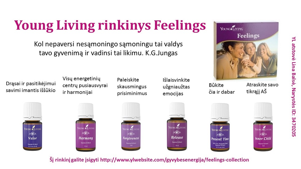 Young Living rinkinys Feelings